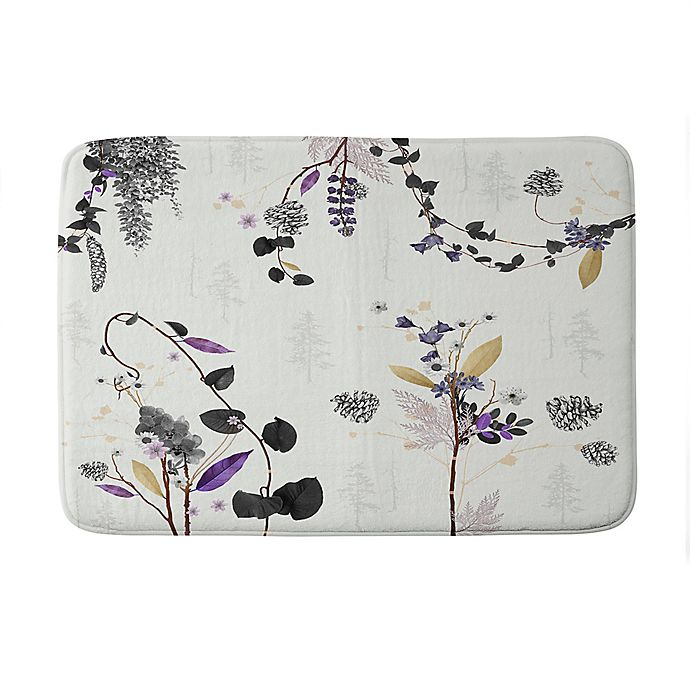 Alternate image 1 for Deny Designs Iveta Abolina Woodland Dream Memory Foam Bath Mat in White