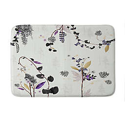 Deny Designs Iveta Abolina Woodland Dream Memory Foam Bath Mat in White