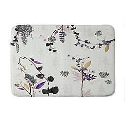 "Deny Designs 24"" x 36"" Iveta Abolina Woodland Dream Memory Foam Bath Mat in White"