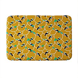 Deny Designs Hello Sayang Toucan Play This Memory Foam Bath Mat in Yellow
