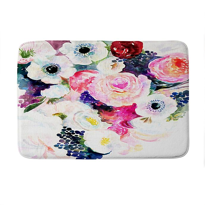 Alternate image 1 for Deny Designs Stephanie Corfee The Dark And The Light Memory Foam Bath Mat in Pink