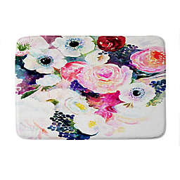"Deny Designs 17"" x 24"" Stephanie Corfee The Dark And The Light Memory Foam Bath Mat in Pink"