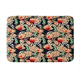 Deny Designs Holli Zollinger Boheme Butterfly Memory Foam Bath Mat in Red