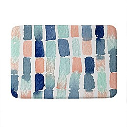 Deny Designs Proper Timing Is Everything Memory Foam Bath Mat in Blue