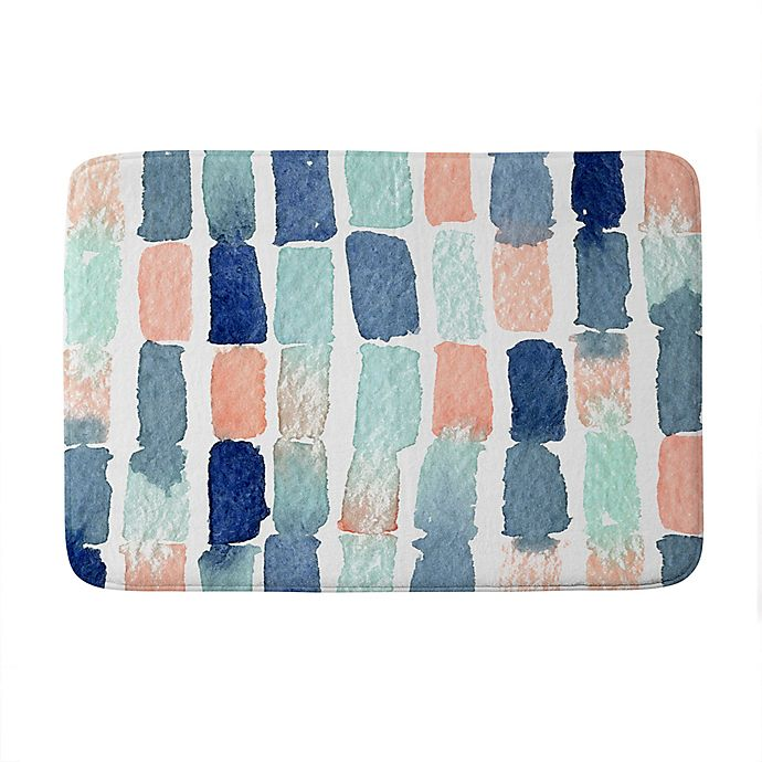 Alternate image 1 for Deny Designs Proper Timing Is Everything Memory Foam Bath Mat in Blue