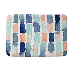 "Deny Designs 24"" x 36"" Proper Timing Is Everything Memory Foam Bath Mat in Blue"