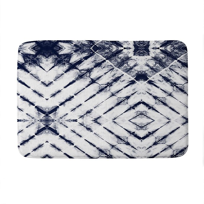 Alternate image 1 for Deny Designs Little Arrow Design Shibori Tie-Dye Memory Foam Bath Mat in Blue