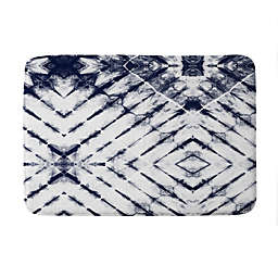 Deny Designs Little Arrow Design Shibori Tie-Dye Memory Foam Bath Mat in Blue