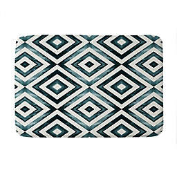 "Deny Designs 17"" x 24"" Little Arrow Design Co Watercolor Memory Foam Bath Mat in Blue"
