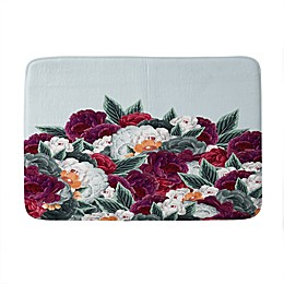 Deny Designs Iveta Abolina English Rose Memory Foam Bath Mat in Blue
