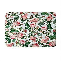 Deny Designs 83 Oranges Honey Memory Foam Bath Mat in Green