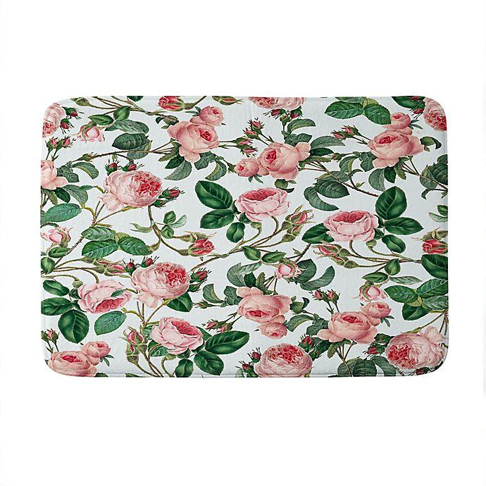 Alternate image 1 for Deny Designs 83 Oranges Honey Memory Foam Bath Mat in Green
