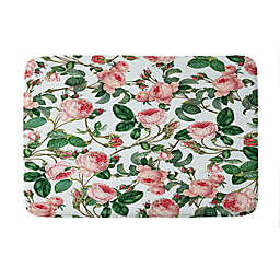 Deny Designs 83 Oranges Honey Memory Foam Bath Mat in Green