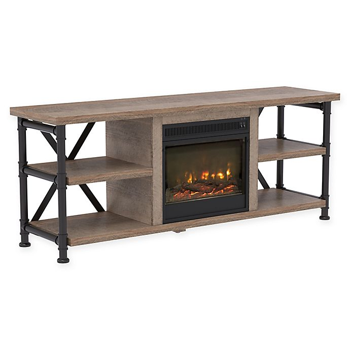 Bell O Irondale Tv Stand In Driftwood Bed Bath Beyond