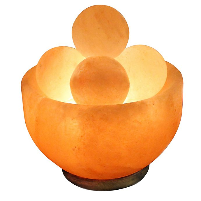 Alternate image 1 for Himalayan Salt Bowl Lamp with Massage Stones