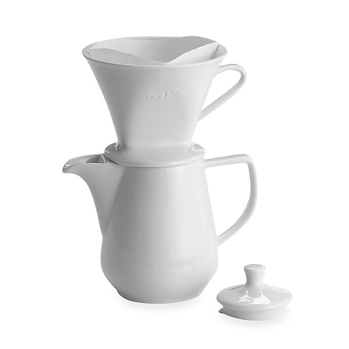 Alternate image 1 for Melitta® Pour Over 6-Cup Porcelain Coffee Maker