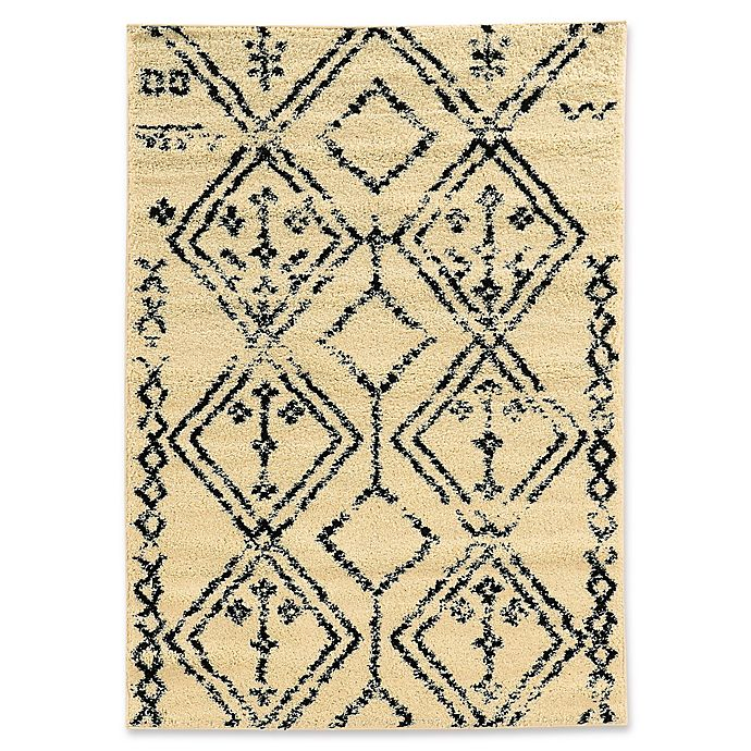 Alternate image 1 for Linon Home Moroccan Fes 3' x 5' Area Rug in Ivory