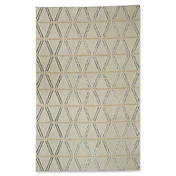Mohawk Home Loft Linear Diamonds Area Rug in Cream