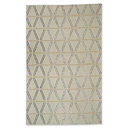 Mohawk Home Loft Linear Diamonds 8' x 10' Area Rug in Cream