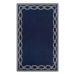Couristan® Rope Knot 5'10 x 9'2 Area Rug in Indigo/Ivory