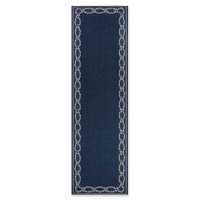 Alternate image 1 for Couristan® Rope Knot 2'3 X 7'10 Runner in Indigo/Ivory