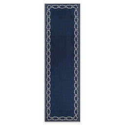 Couristan® Rope Knot 2'3 X 7'10 Runner in Indigo/Ivory