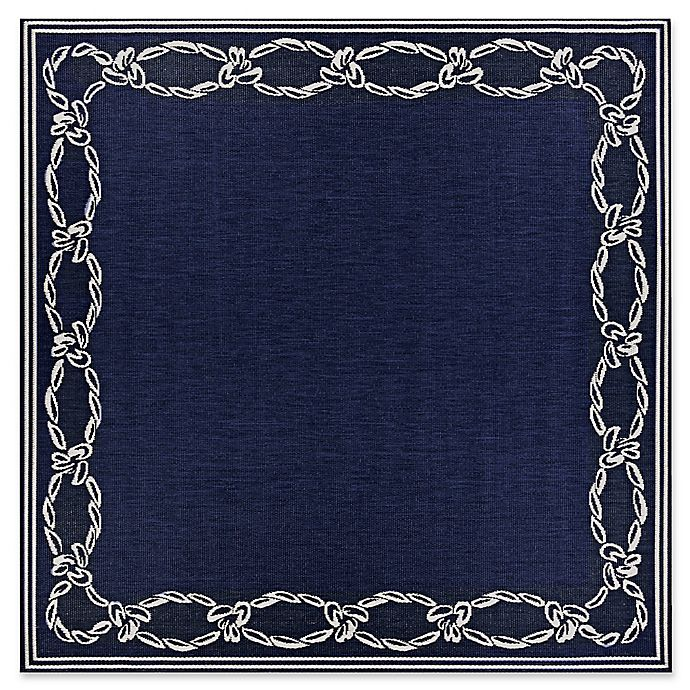 Alternate image 1 for Couristan® Rope Knot Rug in Indigo/Ivory