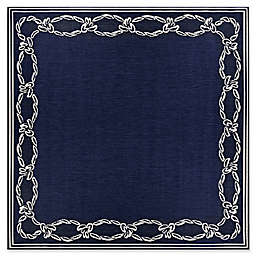 Couristan® Rope Knot 8'6 Square Rug in Indigo/Ivory