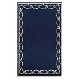 Couristan® Rope Knot 8'6 x 13' Area Rug in Indigo/Ivory