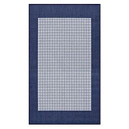 Couristan® Checkered Field Rug in Indigo/Navy