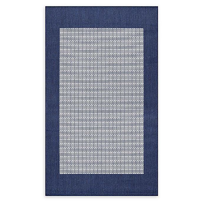 Alternate image 1 for Couristan® Checkered Field Rug in Indigo/Navy