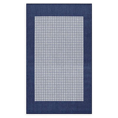 Couristan® Checkered Field Rug in Indigo/Ivory