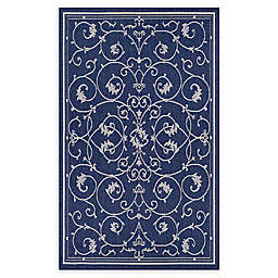 Couristan Recife Veranda Indoor/Outdoor Rug in Indigo/Ivory