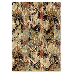 Orian Rugs Wild Weave Distressed Chevron 7'10 x 10'10 Area Rug in Grey