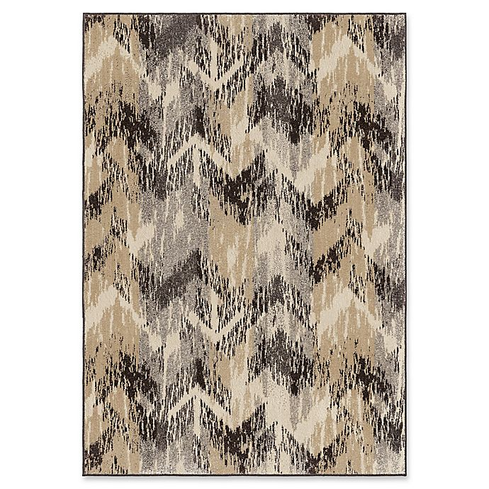 Alternate image 1 for Orian Rugs Wild Weave Distressed Chevron 7'10 x 10'10 Area Rug in Grey