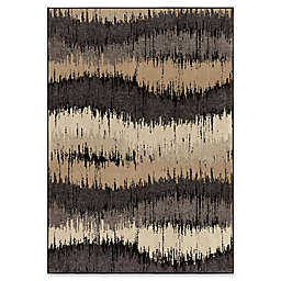Orian Rugs Brushed Waves Area Rug in Grey
