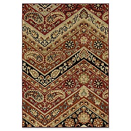 Orian Rugs Heritage Paisley Point Rouge Woven Area Rug in Multi