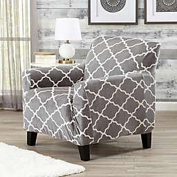 Great Bay Home Magnolia Velvet Plush Strapless Chair Slipcover