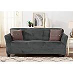 Sofa Saver Velvet Gale Strapless Sofa Slipcover in Dove Grey