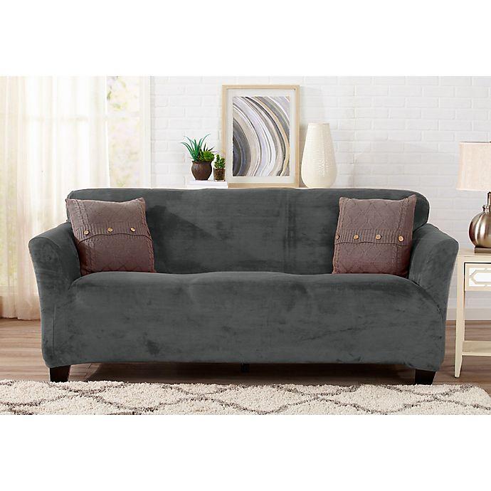Alternate image 1 for Sofa Saver Velvet Gale Strapless Sofa Slipcover