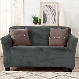 Sofa Saver Velvet Strapless Loveseat Slipcover