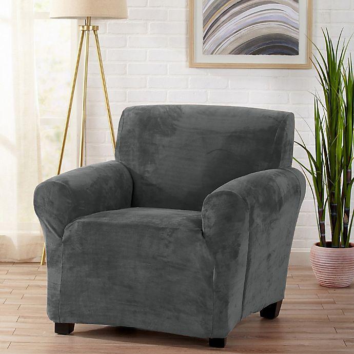 Alternate image 1 for Sofa Saver Velvet Gale Strapless Chair Slipcover