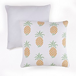 Panama Jack® Pineapple Square Throw Pillows in Yellow (Set of 2)