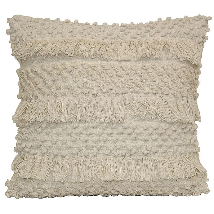 Alternate image 1 for Shimmy Square Throw Pillow in Natural