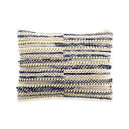 Camden Stripe Oblong Throw Pillow in Blue