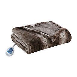 Beautyrest® Zuri Heated 70-Inch x 50-Inch Throw Blanket in Chocolate