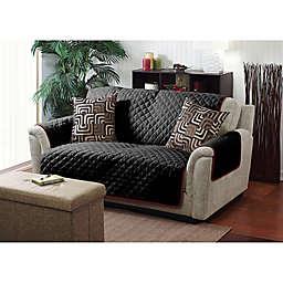 Home Details Reversible Sofa Cover in Burgundy/Black