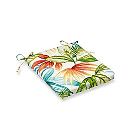 Print Outdoor Tapered Bistro Cushion in Shady Palms