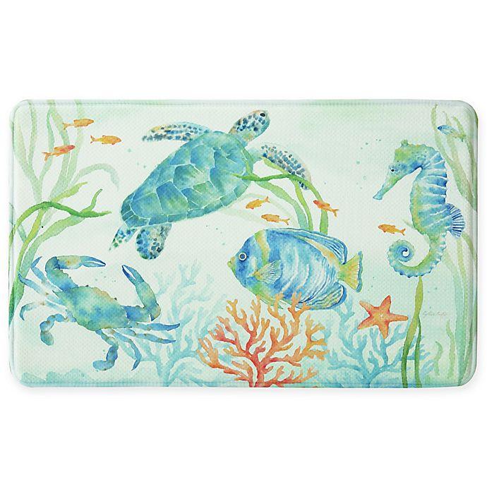 Bacova Sea Splash Memory Foam Kitchen Mat | Bed Bath & Beyond
