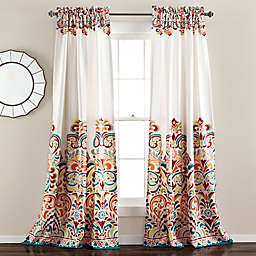 Lush Décor Clara 95-Inch Room Darkening Rod Pocket Curtain Panels  in Turquoise (Set of 2)
